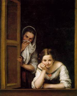 Two_Women_at_a_Window_c1655-1660_Murillo