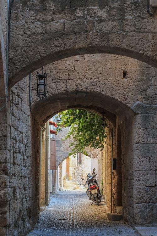Narrow streets Rhodes