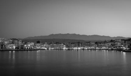 Hania, Crete in black and white