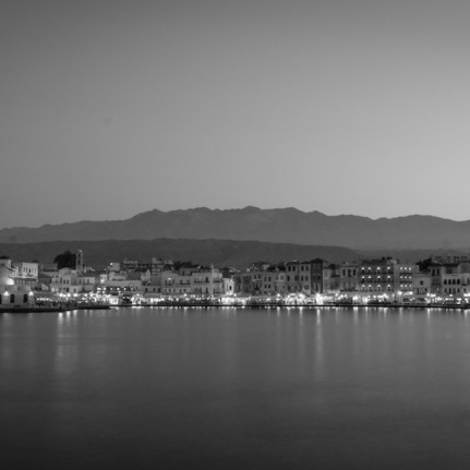 Hania, Crete in black and white