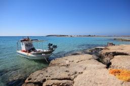 Falasarna Beach Boat