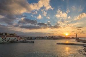 Hania Greece Sunset