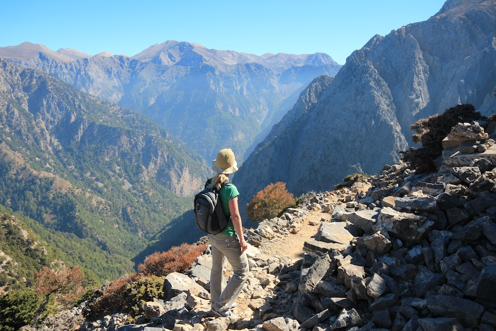 Crete hiking