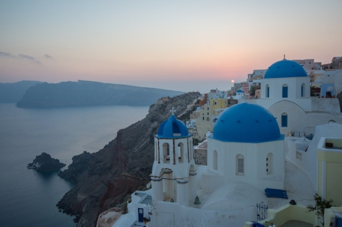Sad sunset Santorini