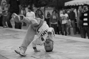 Child breakdancing