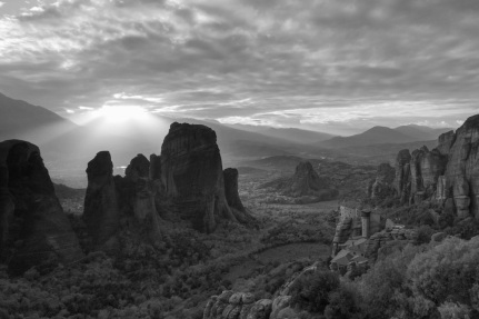 Meteora in Black and White