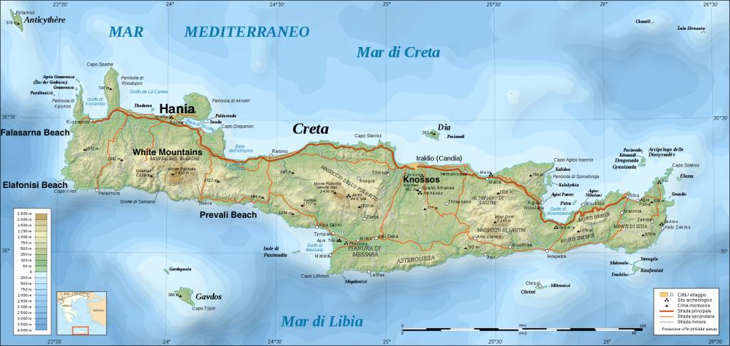 Crete Map