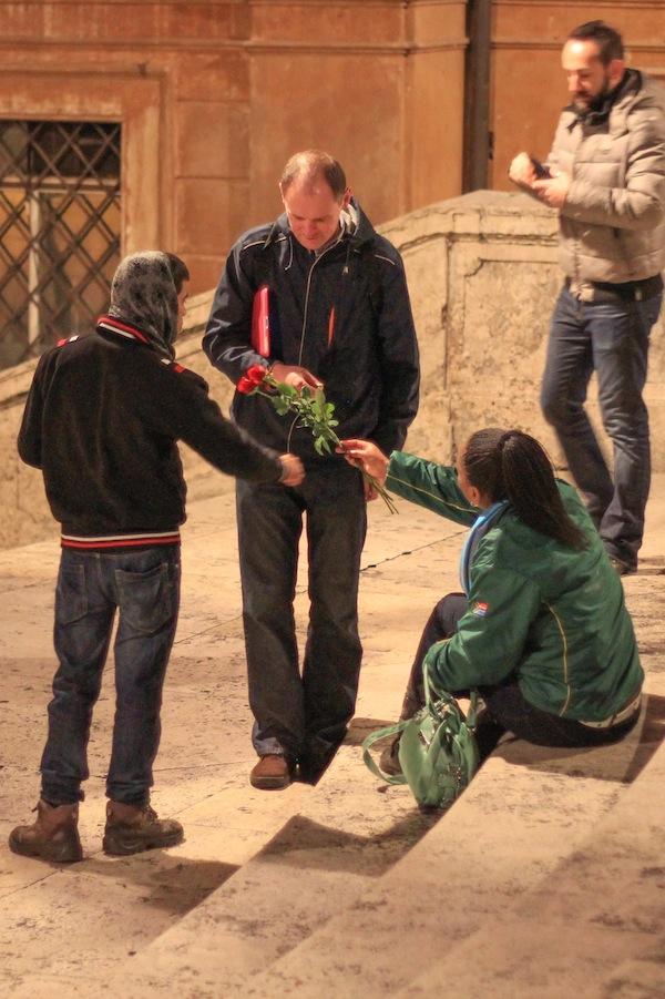 Rose Hustle Ipad Spanish Steps in Rome.