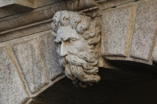 Details are everywhere in Venice, like this carving above a door.