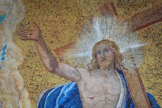 FOX NEWS Jesus on a Mural: white, blue eyes and blonde hair.
