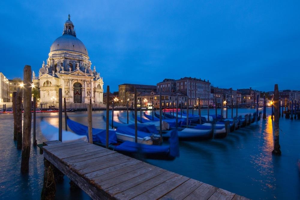Venice Church and Goldolas