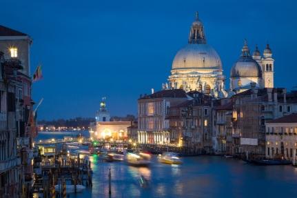 Venice, Italy blue hour