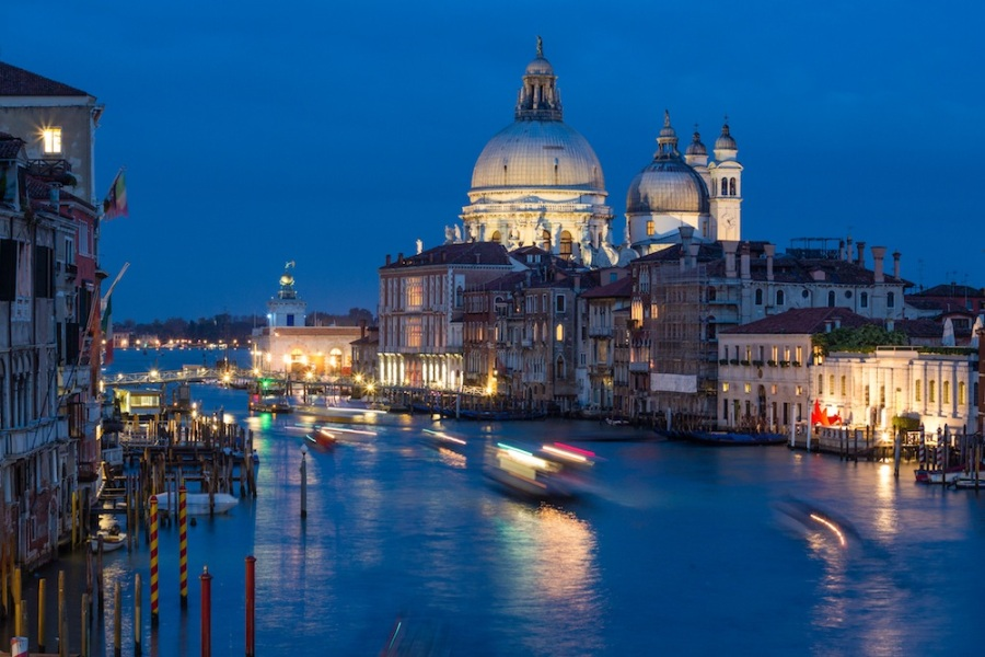 Blue Hour Boats in Venice