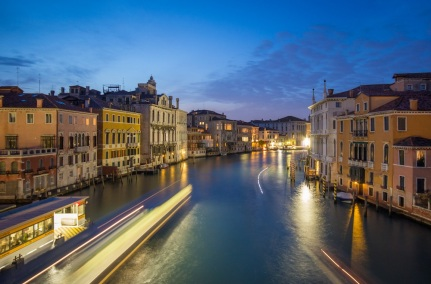 Grand Canal Blue Hour from Accademia