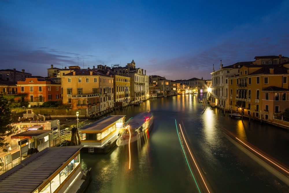 Blue Hour Water Taxi in Venice