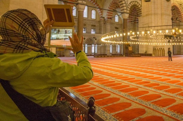 iPad camera in mosques