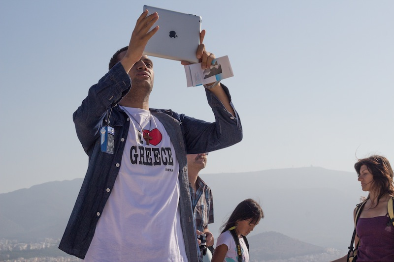 I love Greece and iPad Cameras!