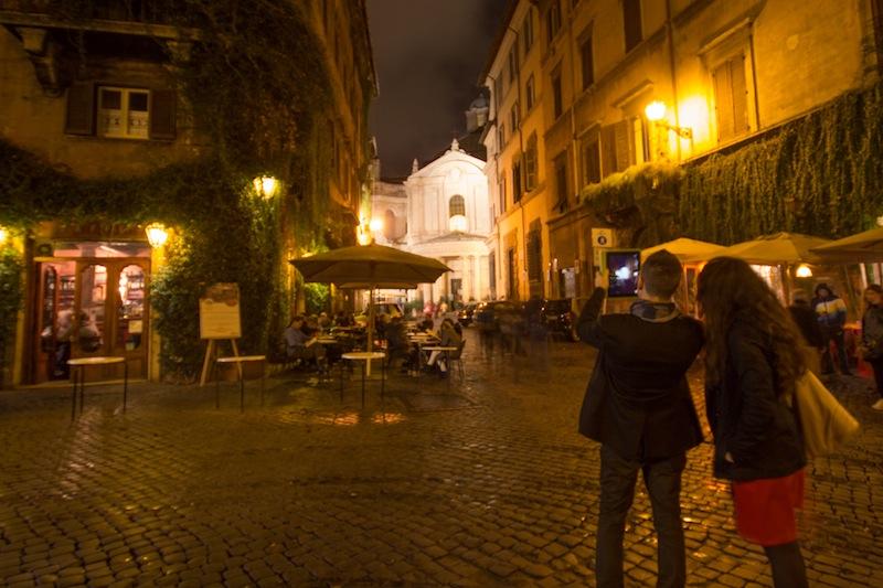 iPad camera photo in Roman backstreets
