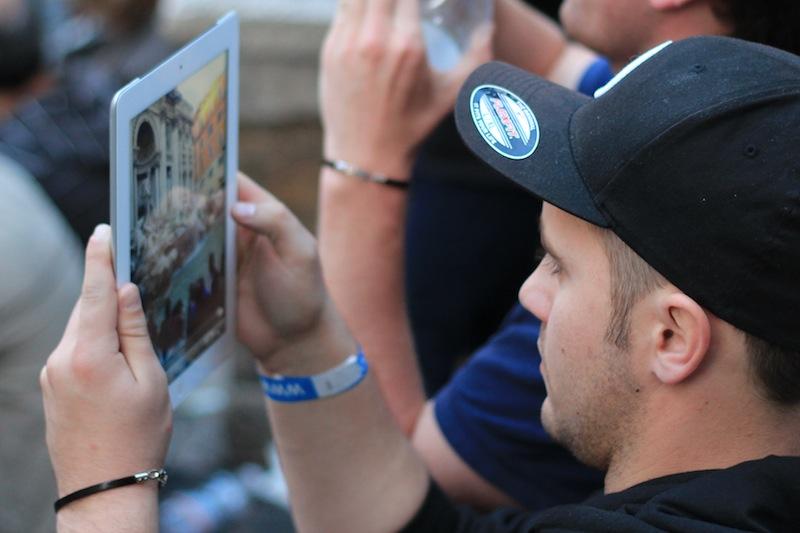iPad camera in Rome