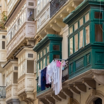 Valletta Laundry on a line.