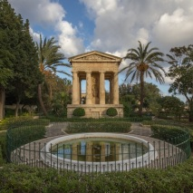 Peaceful park in Valletta.