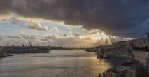 Valletta Harbor Sunset.