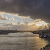 Valletta Harbor Sunset.