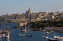 Boats in the harbor, Valletta, Malta.