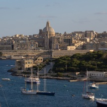 Boats in the harbor, Valletta, Malta.