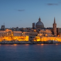 Valletta skyline at dusk