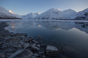 Portage Lake and Alpenglow