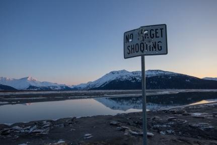 No Target Shooting Sign
