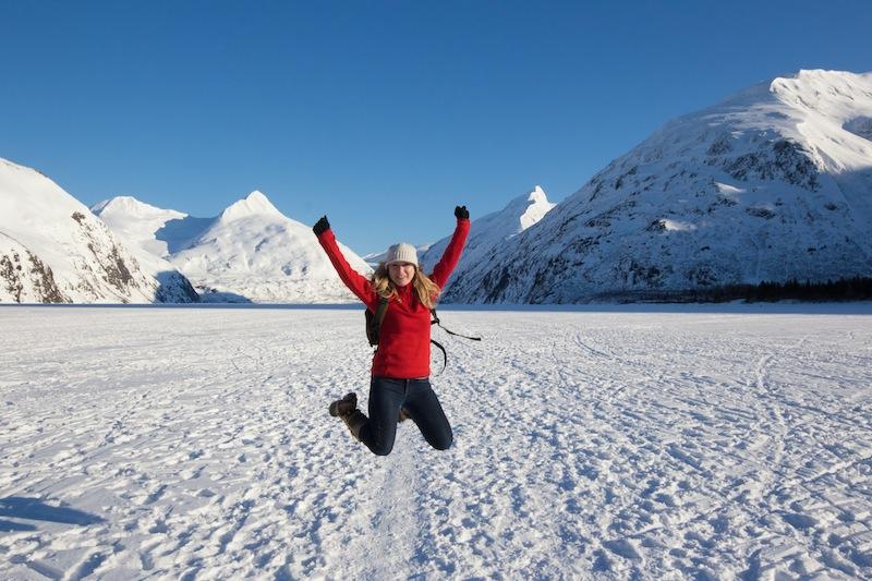 Portage Lake in winter.