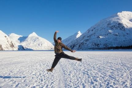 Portage Lake Hike in Winter