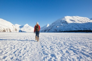Hiking to Portage Glacier in the Winter