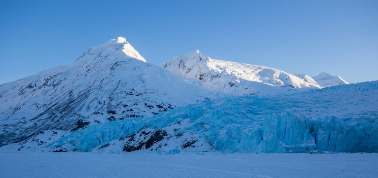 Portage Glacier Hike in the Winter