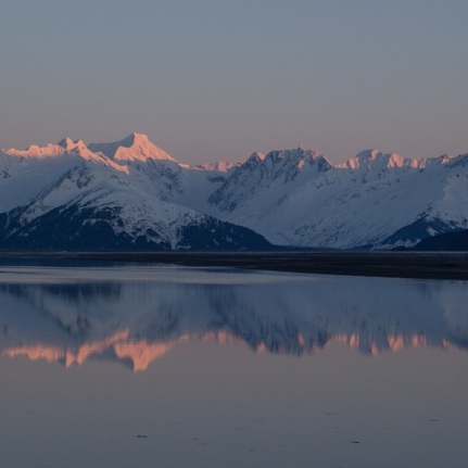 Alpenglow at Turnagain Arm.