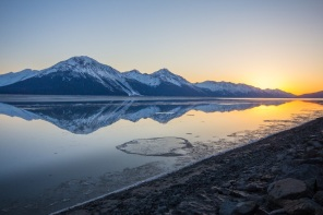 Turnagain Arm at Sunset