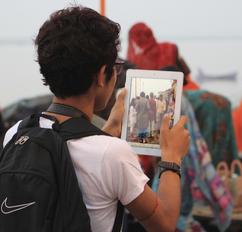 Ipad Camera in Varanasi India