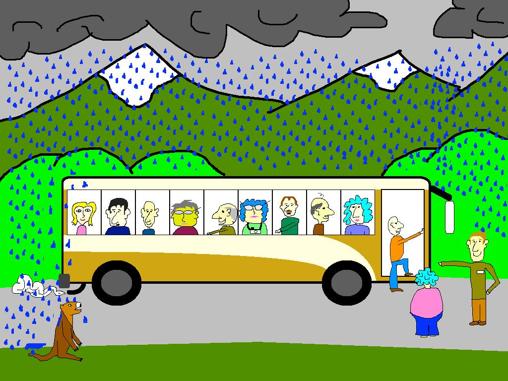 Bear Spray Accident on Tour Bus