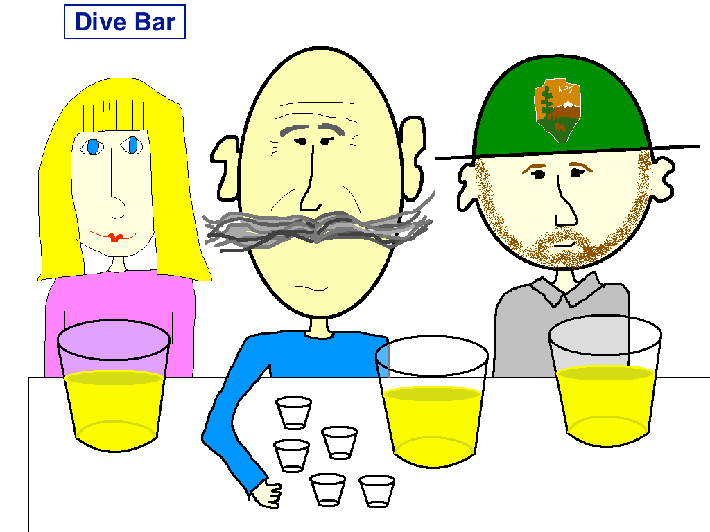 Dive Bar Cartoon