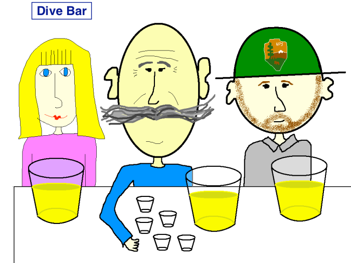 Dive Bar Cartoon