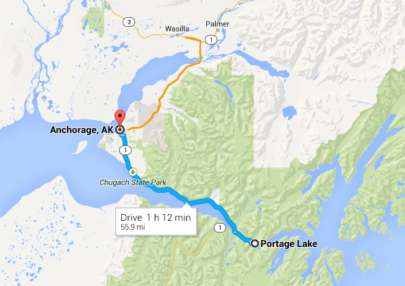 Seward Highway Map