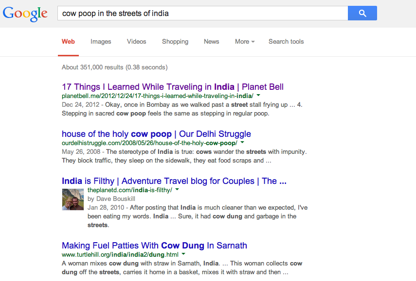India poop in street google search