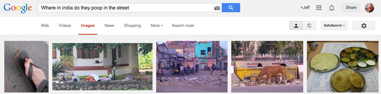 India poop street