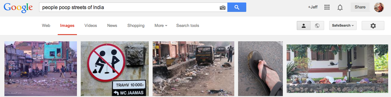 India poop in the street