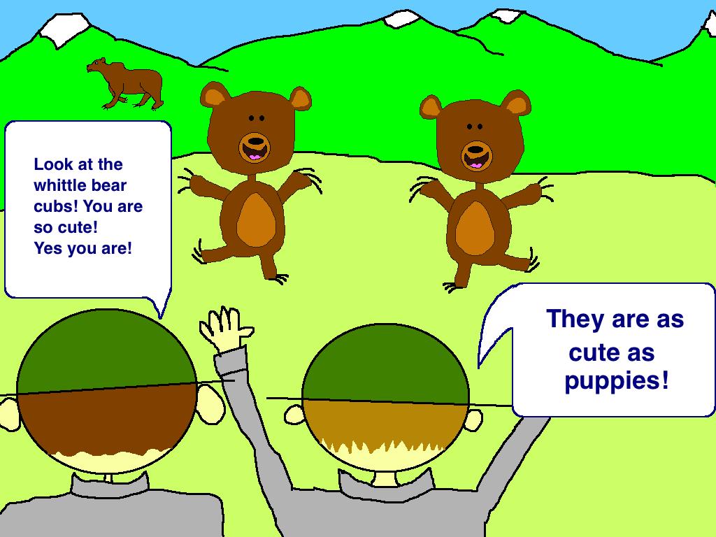 Bear spray story cute cub grizzly