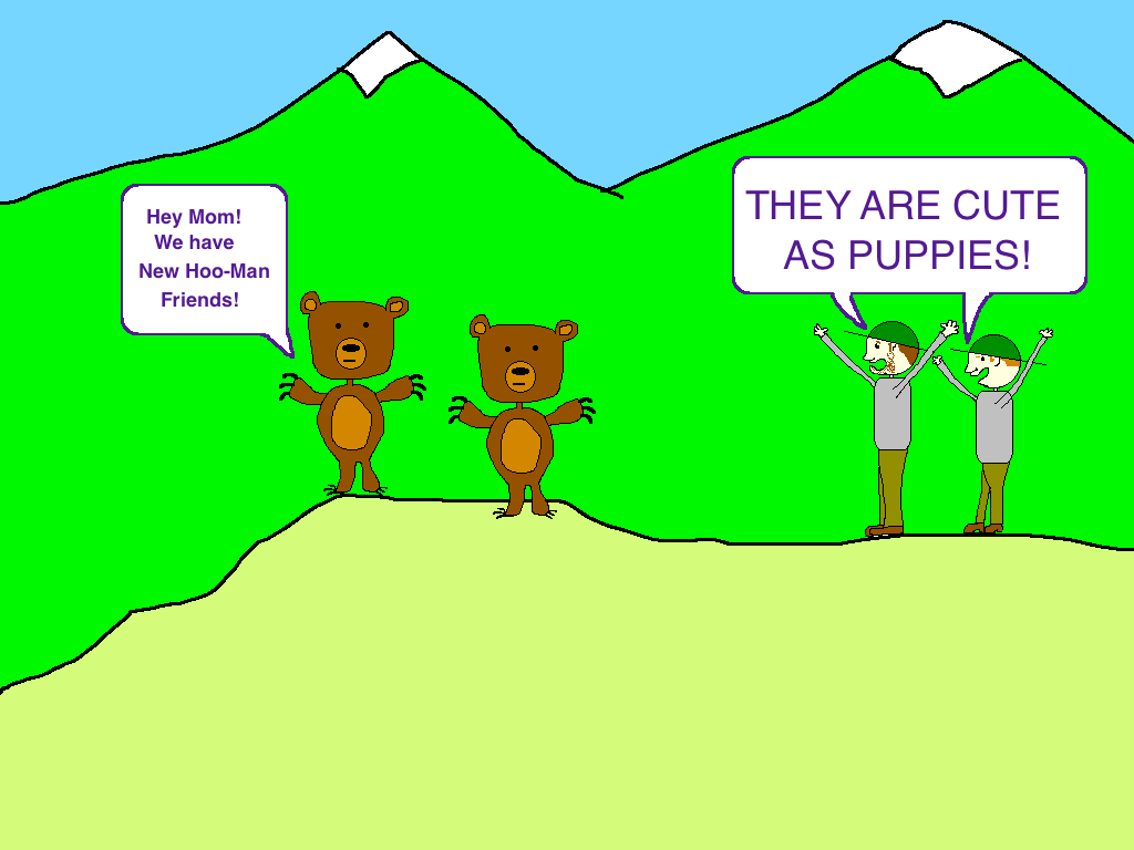 Bear cub puppy cartoon