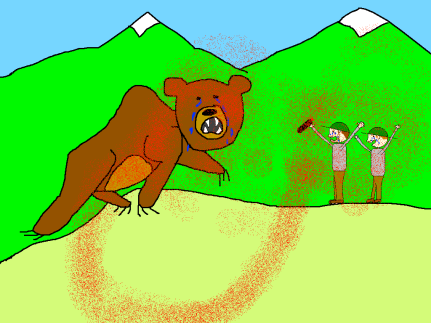 bear spray cartoon
