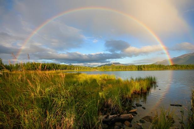 Otto Lake Rainbow in summer